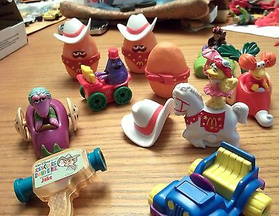 Lot of 10 Vintage  1980's/1990's McDonald Happy Meal  Toys