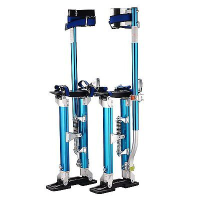 Drywall Stilts Aluminum Proseries Painting Adjustable Height Blue 24 to 40 Inch
