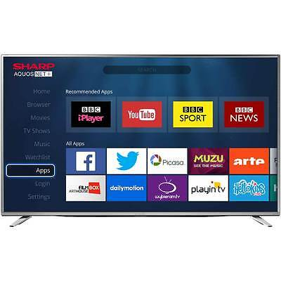 Sharp TV LC-55CUG8462KS 55 Inch Smart LED 4K Ultra HD Freeview HD TV 3 HDMI -