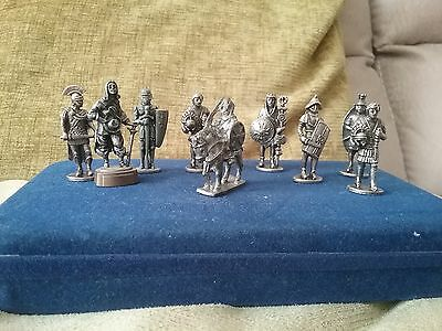 A Collection Of Nine Minature Metal Figures - Roman, Greek And Gaming Figures