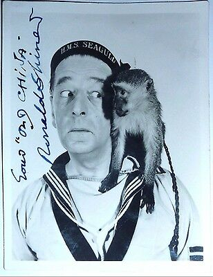Ronald Shiner Actor  Carry On Admiral Hand signed Photograph 4 x 3