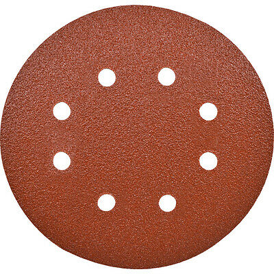 Workshop Industrial Quality Eight Holes 115Mm Adhesive Backed P80 - Pack Of 100