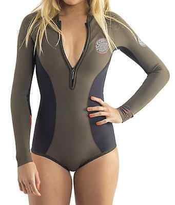 Rip Curl G Bomb Booty Long Sleeve 1mm SPRINGSuit Wetsuit - Fatigue GBOMB BEST