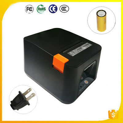 USB POS Receipt Thermal Printer with 80mm Paper Rolls High-speed Printing