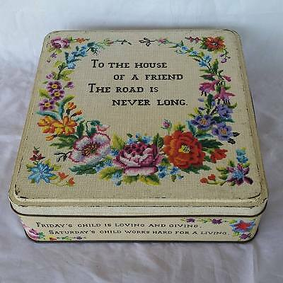Vintage Carr's To The House Biscuit Tin England Collectable