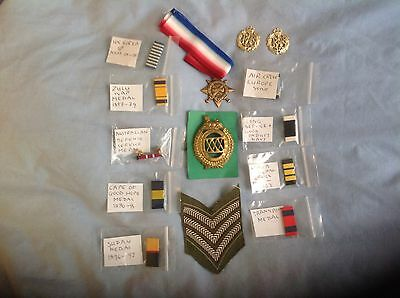 WW2 Badges and Ribbon Bars. Including XXX Corps Cap Badge.