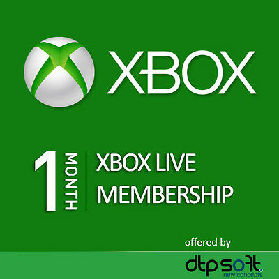 1 Month Xbox Live XBOX ONE Gold Membership Subscription Card FAST