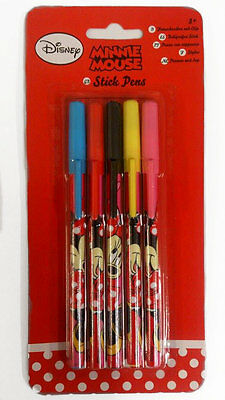 Disney Minnie Mouse Stick Pens 5 Pens Kids Christmas Gift