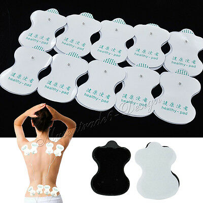 LARGE ELECTRODE PADS Reusable For Tens Machines Digital Therapy Massager UK