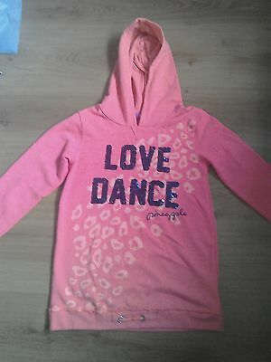 2 Adorable Pineapple dance girls hoodies, 11-12 yrs, orange /pink excellent cond