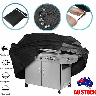 Large 4 Burner Hooded BBQ Cover Protector Barbecue Grill Waterproof Outdoor Use