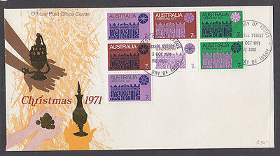 Fdc: 1971 Christmas Block Of 7 In Pristine Condition
