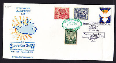 1986 Year Of Peace  Sydney Stamp Show Cover