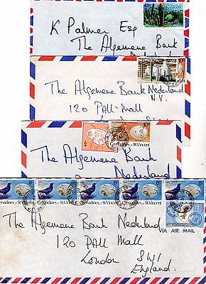 St Vincent Airmail Covers From Collection E2