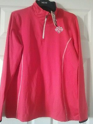 Ladies coral RUNNING long sleeve  top  size 18 20 NEW WITH TAGS