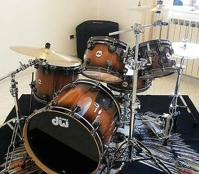 DW Exotic Natural To Candy Black Burst Curly Over Heartwood