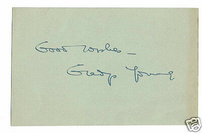 Gladys Young Actress The Courtneys of Curzon Street  Hand signed card 5 x 3