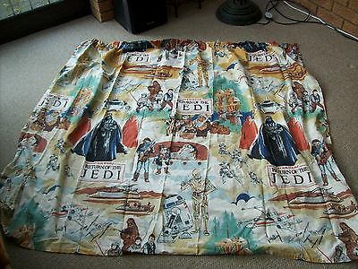 """vintage star wars return of the jedi curtain 52"""" by 56"""" approx"""