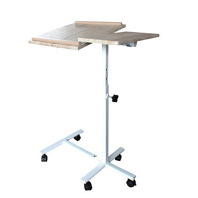 Adjustable Folding Laptop Bed Table Desk Tray Stand with Mouse Board Computer PC