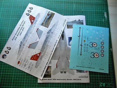 1/32 RAAF 30th Anniversary Red tail F/A-18 Hornet decals.   LIMITED EDITION