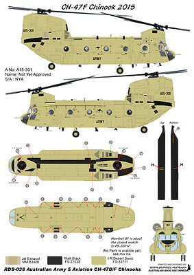 1/72 Australian Army CH-47D/F Chinook Helicopter Decals