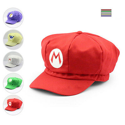 Luigi Super Mario Bros Cosplay Adult Size Hat Cap Baseball Costume Unisex