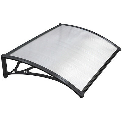 Black Door Canopy Awning Shelter Front Back Porch Outdoor Shade Patio Roof