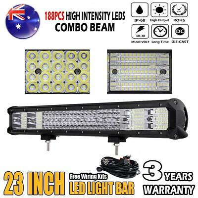 """1008W 23inch Philips Led Work Light Bar Stop Flood Offroad Driving Truck 4WD 22"""""""