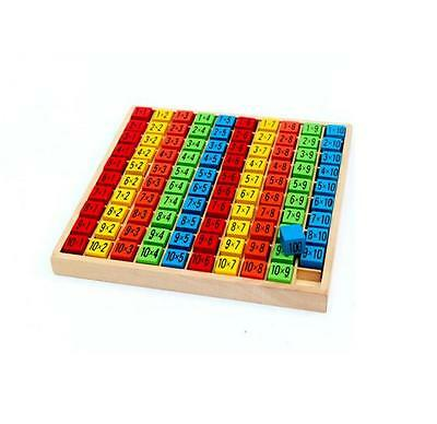 wooden toys 10 multiplication table child educational early childhood Math