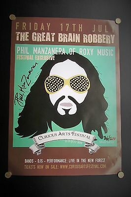Phil Manzanera Roxy Music Signed & Numbered Poster 2015 Great Brain Robbery