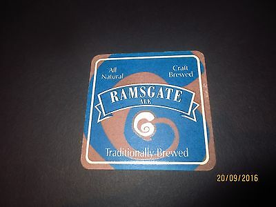 1 only RAMSGATE ALE  BREWERY,South Australia. collectable COASTER 1 / sided