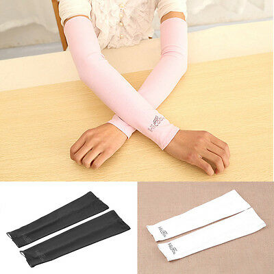 New 1 Pair Summer Cooling Arm Sleeves Cover UV Sun Protection Golf Band