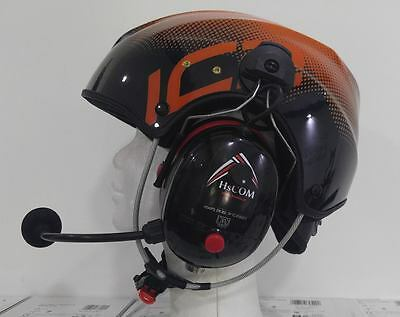 Paramotor Helmet with radio connection and bluetooth