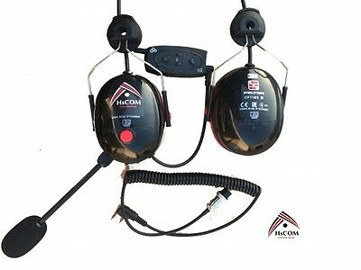 Headset with communication system and bluetooth for paramotor pilots