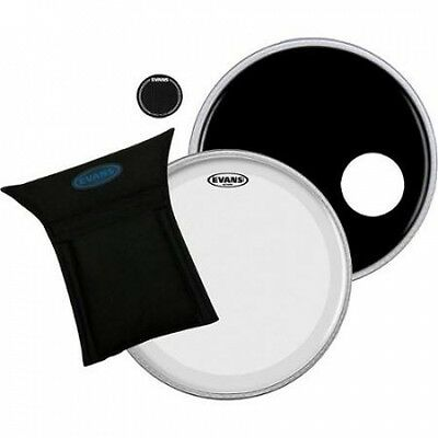 Evans Eq3 System Pack 60cm Bass Drum Head Set Black. Shipping is Free
