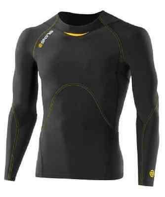 Skins A400 Long Sleeve Top X-Small, Black/Yellow