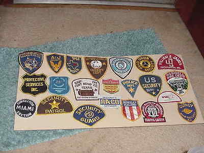 Twenty USED Obselete 1st Responder Patches Faded Worn Repair Project