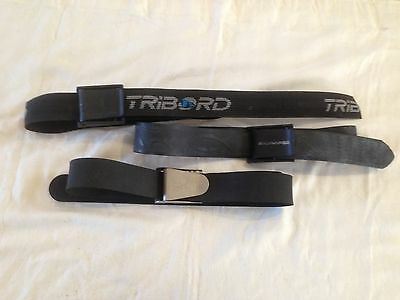 Three 3 Dive Weight Belts. Rubber & Webbing. Beuchat. Salvimar. Tribord