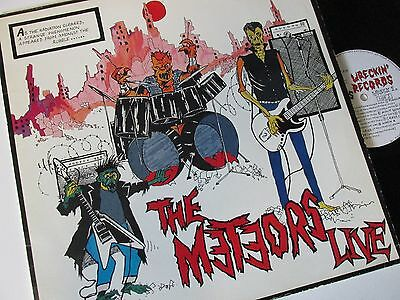 "METEORS THE METEORS LIVE (1980s ROCK, PSYCHOBILLY) VINYL 12"" 33RPMLP"