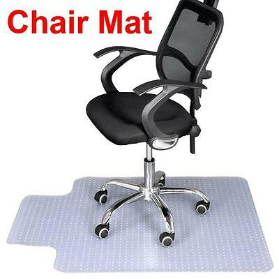 UK Home Office Chair Mat Hard Carpeted Floor Guard Protector PVC 90 x 120cm