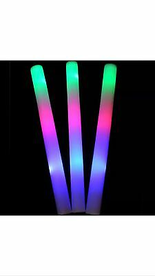 Bulk 50pcs Glow In Dark Wand 48cm Office Party Christmas Or New Yr
