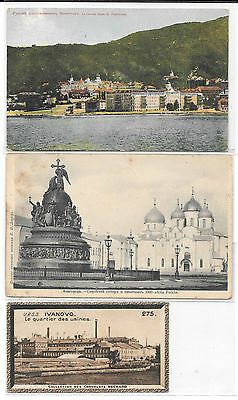 Russie. Russia. 3 cartes.