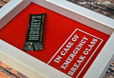 IN CASE OF EMERGENCY BREAK GLASS Sticker Decal for Christmas box frame Shadow