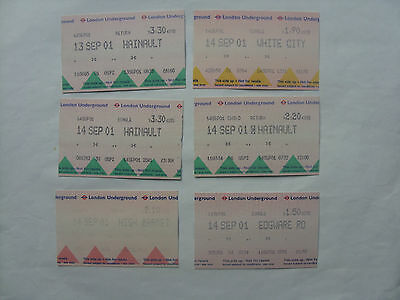Group of 12 London Underground tickets from 2001 (2)