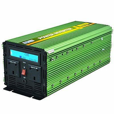 Generic Power Inverter 3000W DC 12V to 230V AC LCD Display Remote - Green