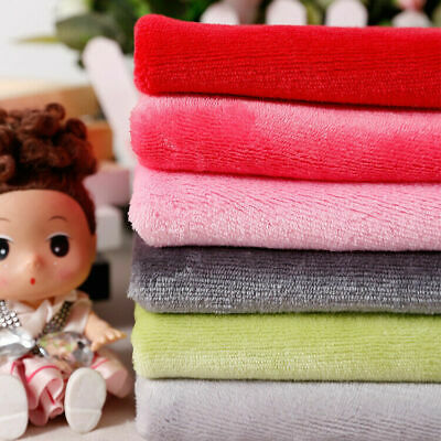 Soft Double Sided Flannel Fleece Fabric Plush Fluffy Cuddle Fur Blanket Material