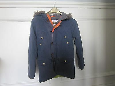 Boden Johnnie B Boys BLUE Parka Style Winter Coat Age 9-10 - good condition