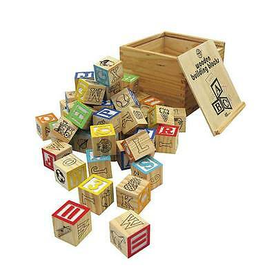 Traditional Wooden Building Blocks in wooden box by House of Marbles