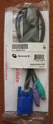 Avocent Server Interface Module PS/2 KVM DSRIQ-PS2 Cable - New & Sealed in Bag