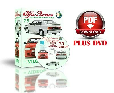 Alfa Romeo 75 Complete Workshop And Service Manual 1985-92 PLUS VIDEOS DVD